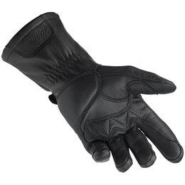 Biltwell Mens Gauntlet Leather Riding Gloves Black