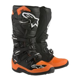 Orange, Black, White Alpinestars Mens Tech 7 Boots Us 7 Orange Black White