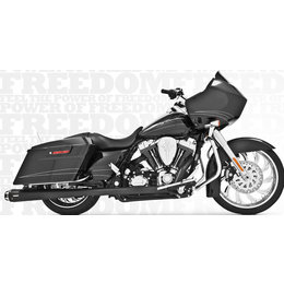 Freedom Performance Exhaust American Outlaw Dual Black For HD FLH FLT 1986-2008