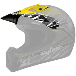 Yellow, Black Cyber Replacement Visor For Ux-22 Helmet Yellow Black