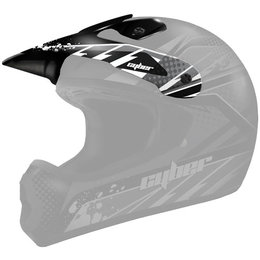 Silver, Black Cyber Replacement Visor For Ux-22 Helmet Silver Black