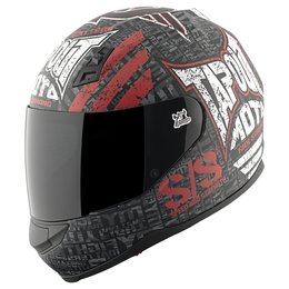 Black, White, Red Speed & Strength Ss700 Tapout Full Face Helmet 2013 Black White Red
