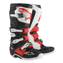 Black, White, Red Alpinestars Mens Tech 7 Boots Us 5 Black White Red