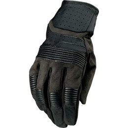 Z1R Mens Bolt Leather Gloves Black
