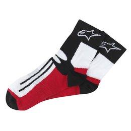 Black, Red Alpinestars Short Racing Road Socks Black