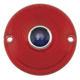 Chris Products Turn Signal Lens Rear For Harley-Davidson Red/Blue Dot DHD3RB Red