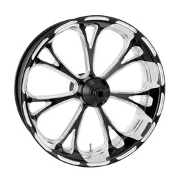 Performance Machine 21x3.5 Virtue Front Wheel For Harley Black 12027106PVIRBMP Black