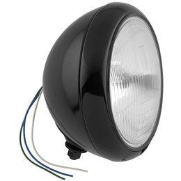 Biker's Choice 7 Inch Hydraglide Style Patterned Lens Headlight Black 7 1/2M-H/B Black