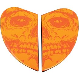 Orange Icon Replacement Side Plate Kit For Airmada Medicine Man Full Face Helmet