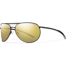 Matte Black/gold Mirror Polarized Smith Optics Serpico Slim Sunglasses W Polar Lens 2013 Matte Black Gold Mirror
