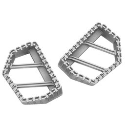 Kuryakyn Riot Mini Boards Footpegs Pair Universal Silver 3596 Silver