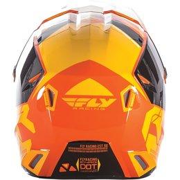 Fly Racing Kinetic Elite Onset MX Offroad Helmet Orange