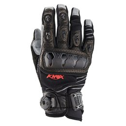 Black Knox Mens Hand Armour Orsa Or3 Boa Leather Offroad Gloves 2014