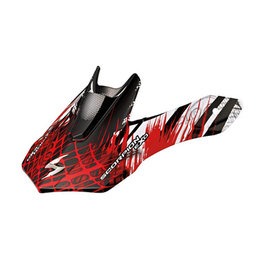 Scorpion VX-34 Scream Replacement Visor Peak MX/Offroad Helmet Accessory Red