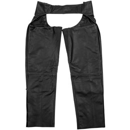 Black Brand Mens Torque Leather Chaps Black