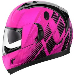 Icon Womens Alliance GT Primary Full Face Motorcycle Helmet Pink