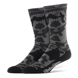 Troy Lee Designs Mens Camo Acrylic Crew Socks Black
