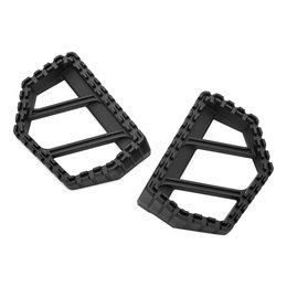 Kuryakyn Riot Mini Boards Footpegs Pair Universal Satin Black 3597 Black