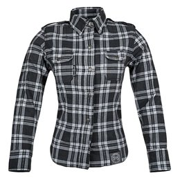 Black, Grey Speed & Strength Womens Smokin Aces Reinforced Moto Shirt 2015 Blk Grey