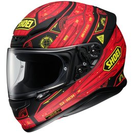 Shoei Mens RF-1200 RF1200 Vessel Full Face Helmet Red