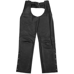 Black Brand Mens Degree Leather Chaps