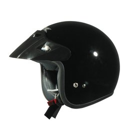 Black Afx Boys Fx-75y Fx75y Open Face Helmet