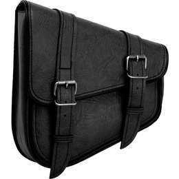 River Road Left Side Classic Swingarm Bag Black Black