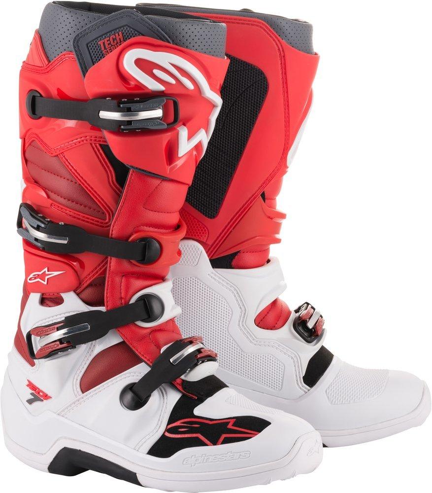 704b4e9f3f09da ... Alpinestars Mens Tech 7 MX Motocross Off-Road CE Riding Boots White ...