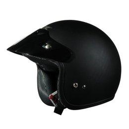 Flat Black Afx Boys Fx-75y Fx75y Open Face Helmet