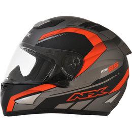 AFX FX95 Mens Airstrike Frost Helmet Orange