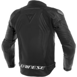 Dainese Mens Racing 3 Armored Leather Jacket Black