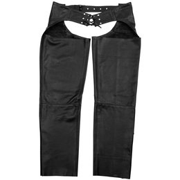 Black Brand Mens Degree Leather Chaps Black