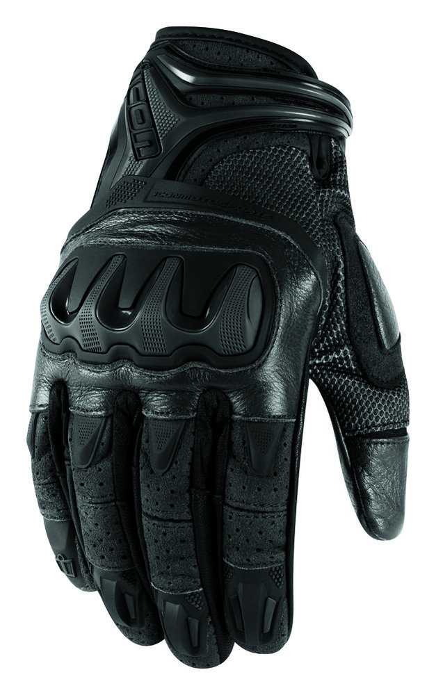 Sportbike Riding Boots >> $70.00 Icon Mens Overlord Resistance Leather Mesh Gloves #194892