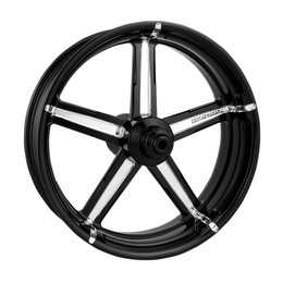 Performance Machine 21x3.5 Formula Front Wheel For Harley Black 12027106FRMBMP Black