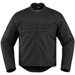 Icon Mens Motorhead 2 Armored Leather Jacket Black