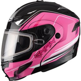 GMax Womens GM54S Terrain Modular Snow Helmet With Dual Pane Shield Pink