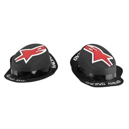 Black, Red Alpinestars Mens Gp Rain Knee Sliders 2014 Pair One Size Black Red