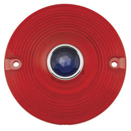 Chris Products Turn Signal Lens For Harley-Davidson Red/Blue Dot DHD4RB Red