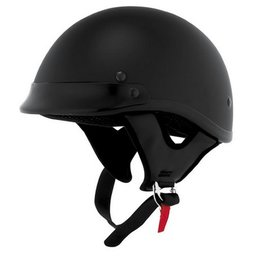 Flat Black Skid Lid Traditional Helmet