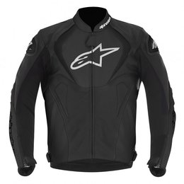 Black Alpinestars Jaws Leather Jacket 2013 Us 38 Eu 48