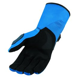 Icon Mens Raiden DKR Insulated Waterproof Textile Motorcycle Riding Gloves 2015 Blue