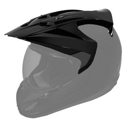 Black Gloss Icon Replacement Visor For Variant Dual Sport Helmet