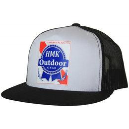 HMK Mens Blue Ribbon Snapback Adjustable Trucker Hat Black