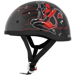 Hell On Wheels Skid Lid Lethal Threat Original Half Helmet