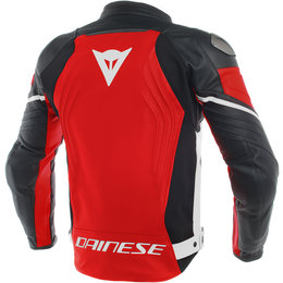 Dainese Mens Racing 3 Armored Leather Jacket Red