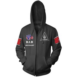 Black Honda Mens Race Team Zip Hoody 2013