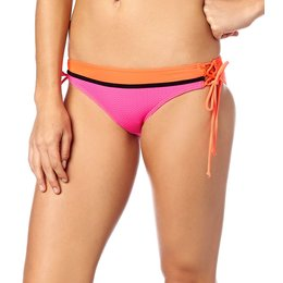 Fox Racing Womens Victory Lace Up Side Tie Bikini Bottom Pink
