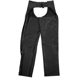 Black Brand Womens Hotness Leather Chaps Black