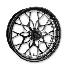 Performance Machine 21x3.5 Galaxy Front Wheel For Harley Black 12027106PGALBMP Black