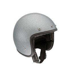 AGV RP60 RP-60 Metal Flake Open Face Helmet Silver